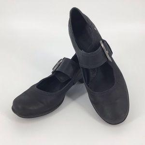 Pikolinos Grey-Black Mary Jane Pumps, 40